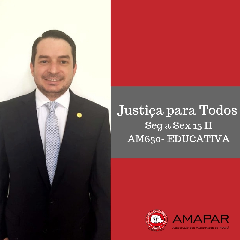 Programa de rádio da AMAPAR inicia especial sobre violência doméstica com entrevista do juiz de Direito Ferdinando Scremin Neto