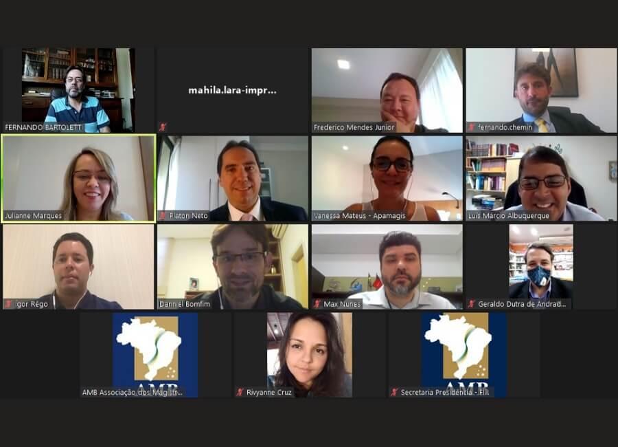 Diretoria da AMAPAR participa de videoconferência da AMB sobre o acesso aos tribunais superiores