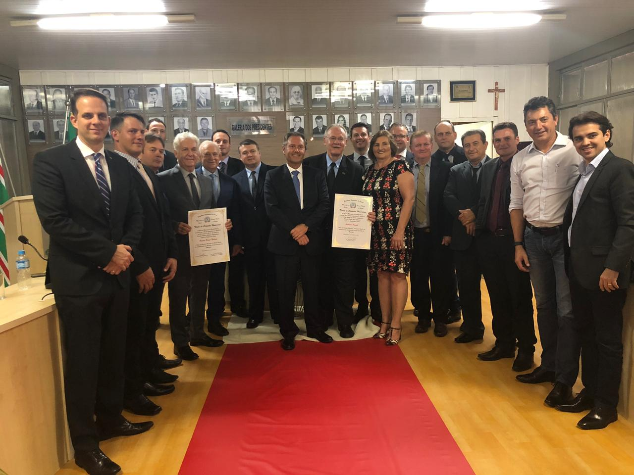 AMAPAR prestigia entrega de título de cidadão honorário de Coronel Vivida ao desembargador Renato Braga Bettega
