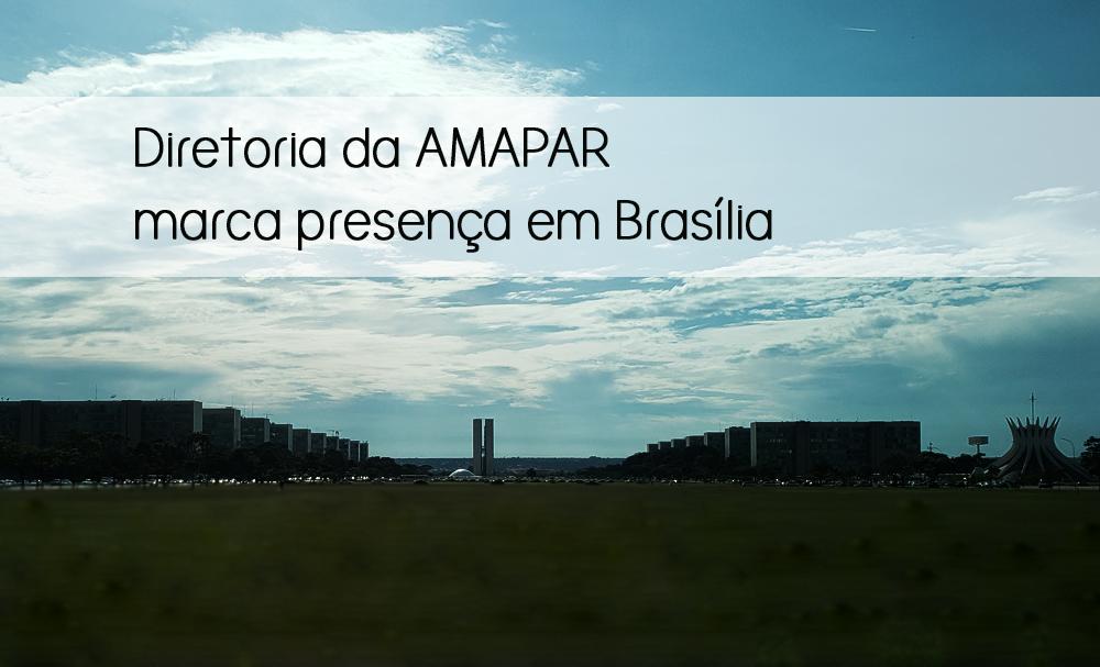 Diretoria da AMAPAR participa de reuniões em Brasília, na sede da AMB