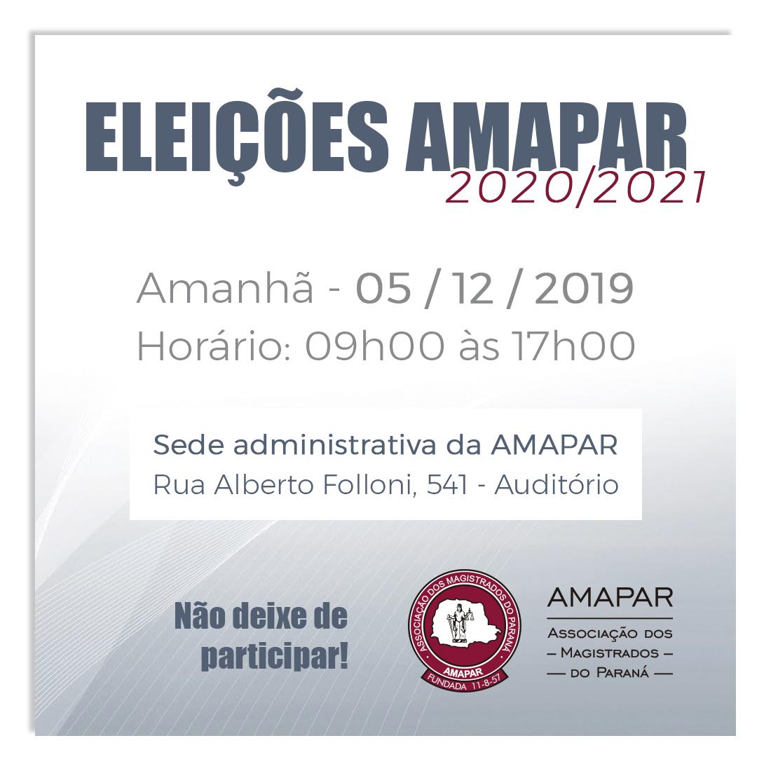Eleições da AMAPAR 2020 - 2021