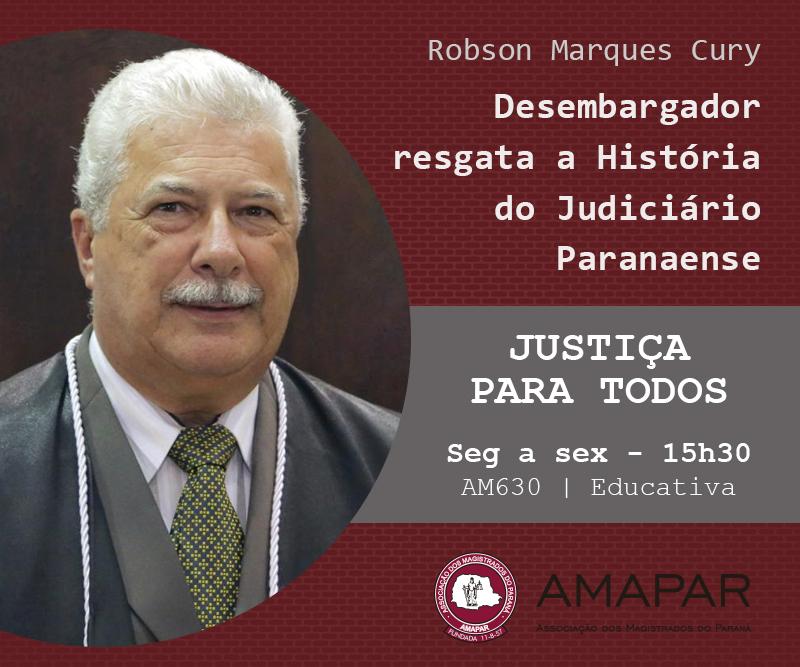 Desembargador resgata a História do Judiciário Paranaense