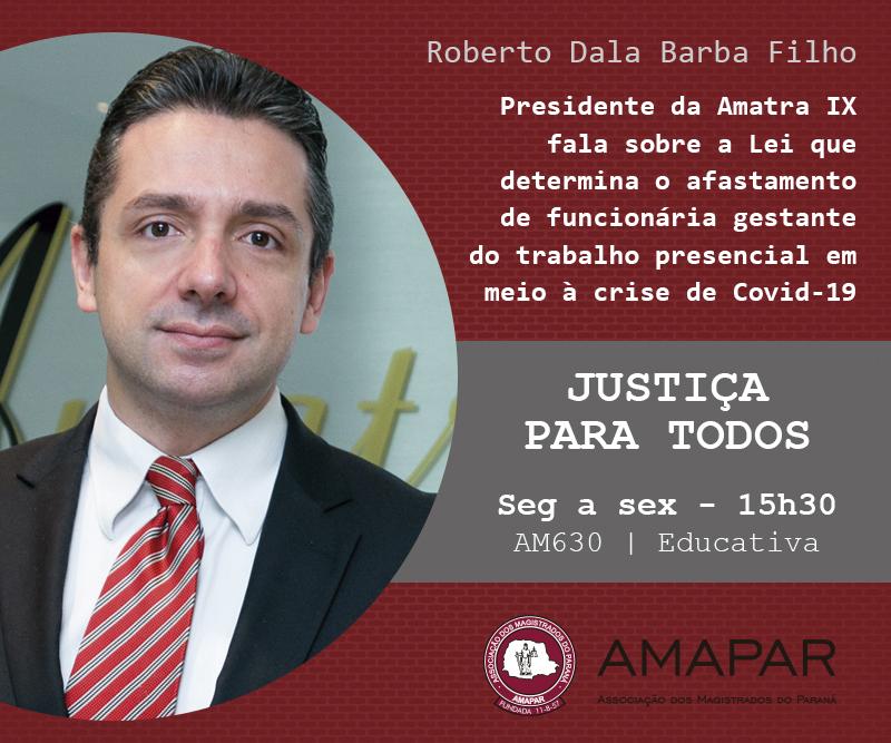 Presidente da Amatra IX fala sobre a Lei que determina o afastamento de funcionária gestante do trabalho presencial em meio à crise de Covid-19