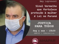 Sinal Vermelho que fortalece proteção à mulher é Lei no Paraná