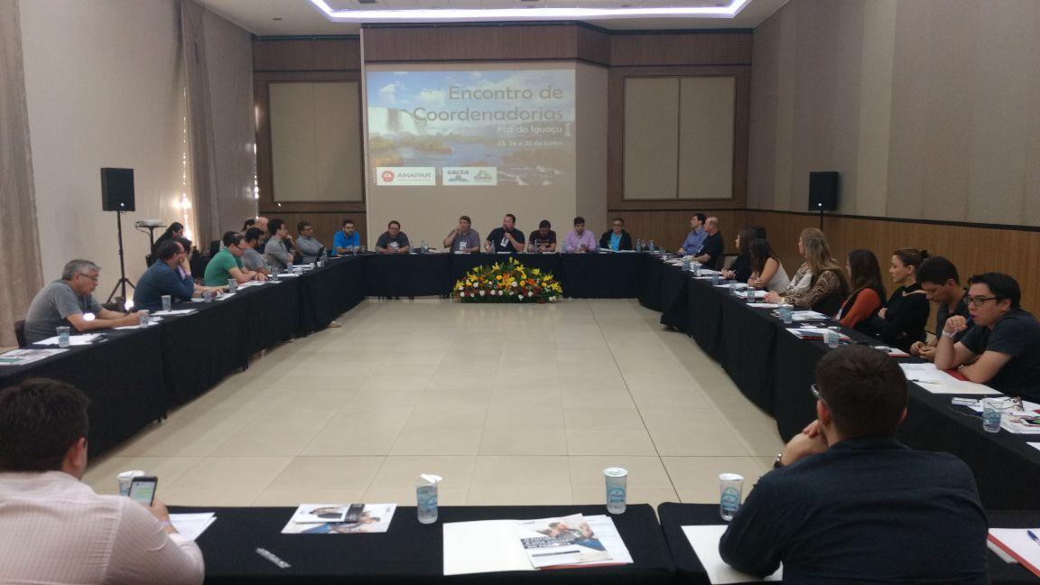 Compensação do plantão e assessoria ganham destaque no encontro de coordenadorias da AMAPAR