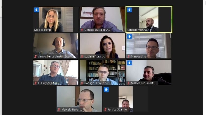 Em videoconferência organizada pela AMAPAR, juízes relatam ao conselheiro do CNJ, Luiz Fernando Tomasi Keppen, os principais entraves das audiências virtuais