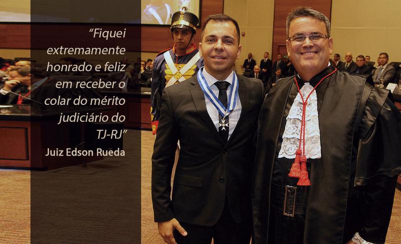 Juiz em Campo Mourão, Edson Jacobucci Rueda recebe honraria do TJ do Rio de Janeiro