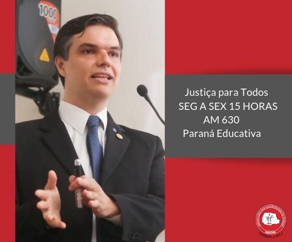 Juiz Ariel Dias fala sobre as formas de violência doméstica no programa de rádio da AMAPAR