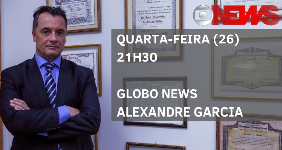 Diretor-geral da EMAP, José Laurindo de Souza Netto, participa do Globo News Alexandre Garcia, nesta quarta-feira (26)