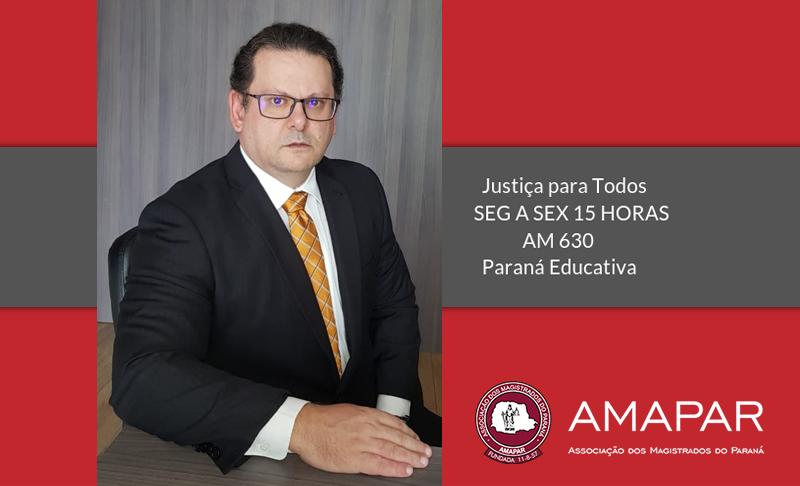 Juiz Jederson Suzin participa do programa de rádio da AMAPAR