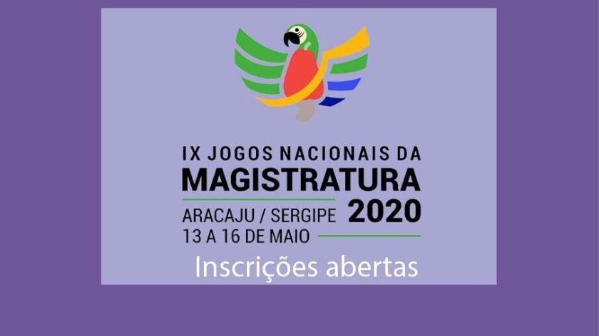 Jogos Nacionais da Magistratura acontecem de 13 a 16 de maio, em Aracaju (SE)