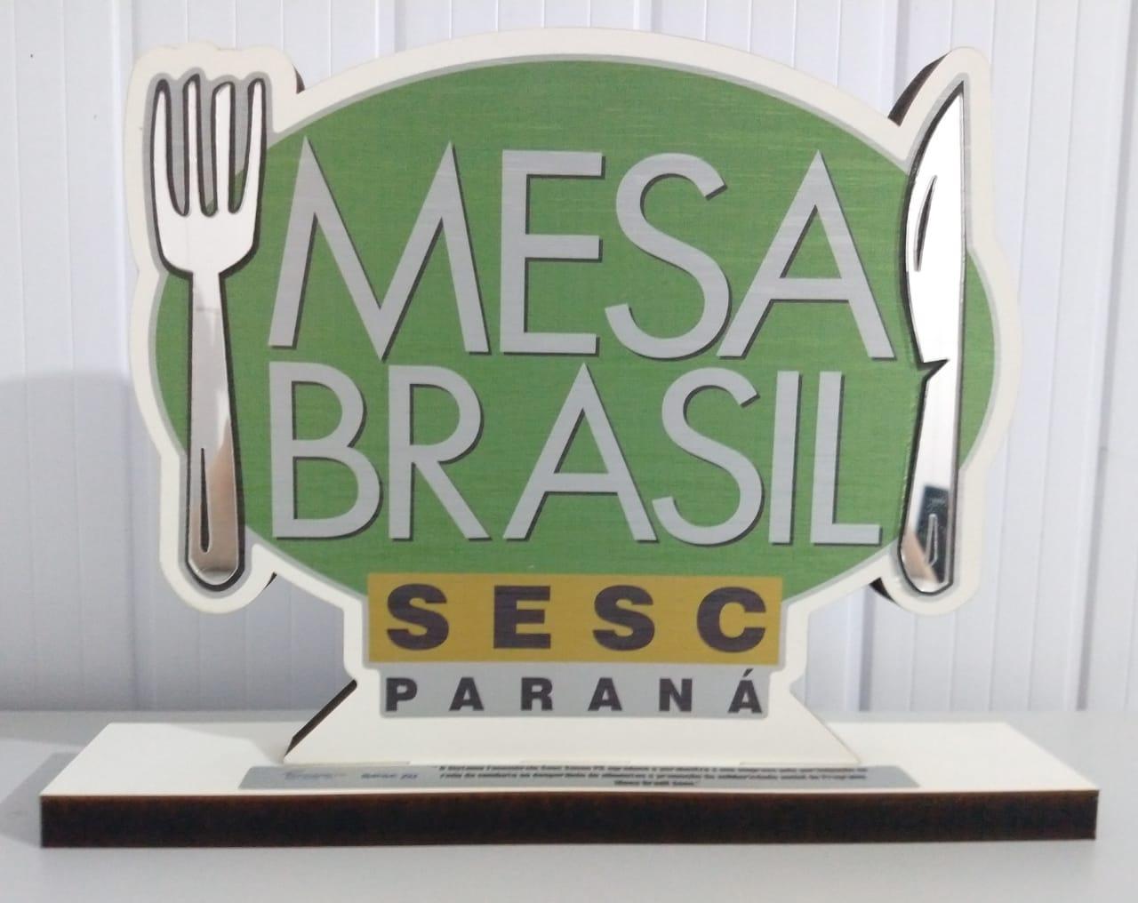 Administrado pela AMAPAR, Projeto SerSocial recebe o troféu Mesa Brasil do SESC-PR