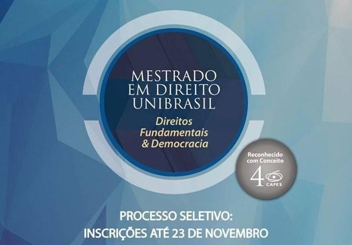 Mestrado do Unibrasil abre inscrições com vagas exclusivas aos associados da AMAPAR