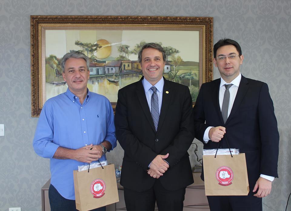 Presidente da AMAPAR recebe visita de representantes de entidades associativas de magistrados